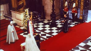 Diana and Prince Charles at their wedding St Paul Cathedral 29 July 1981