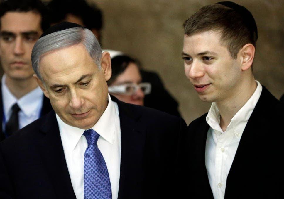Benjamin Netanyahu with his son Yair in 2015