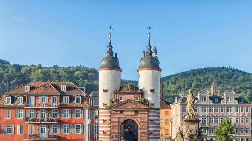 Karl Theodor Bridge in Heidelberg, Duitsland